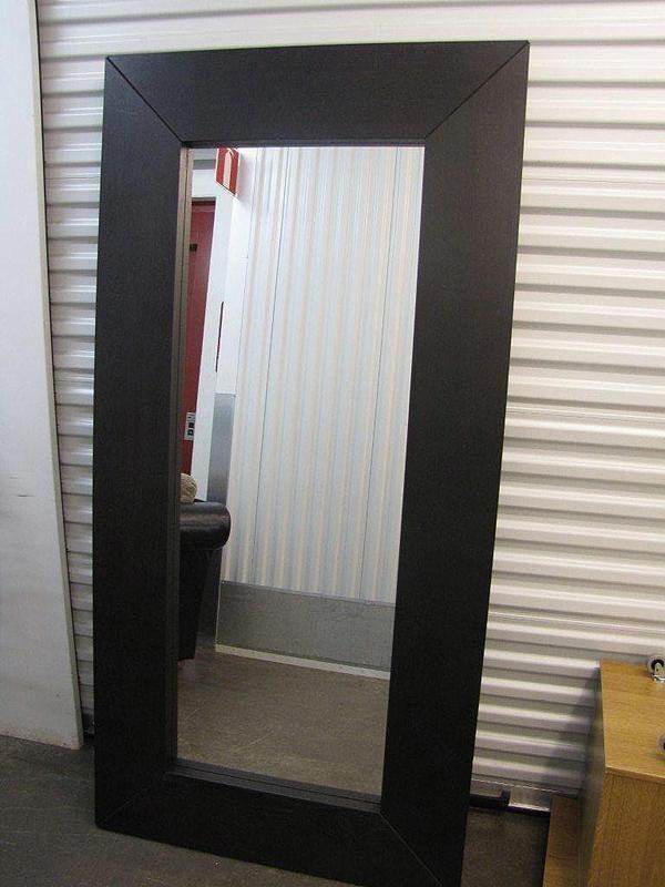 stora speglar med silverram