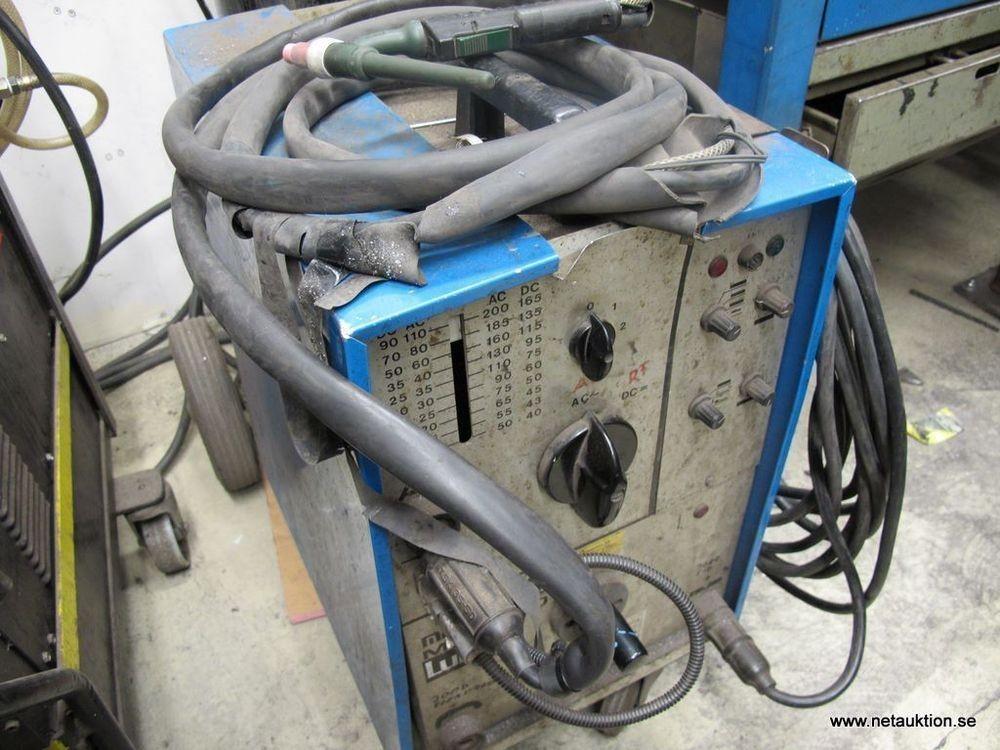 Kända Försäljningsobjekt: AC/DC TIG svets, MIgatronic MTA200 ZV-93
