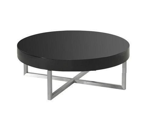 svart runt soffbord