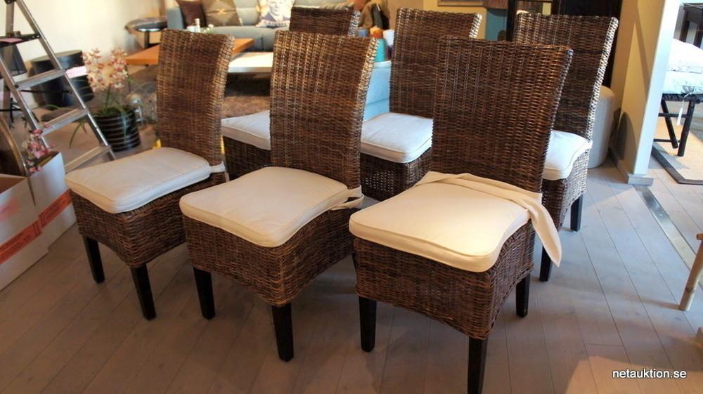 Splitter nya Försäljningsobjekt: 6st stolar i rotting, Artwood VN-06