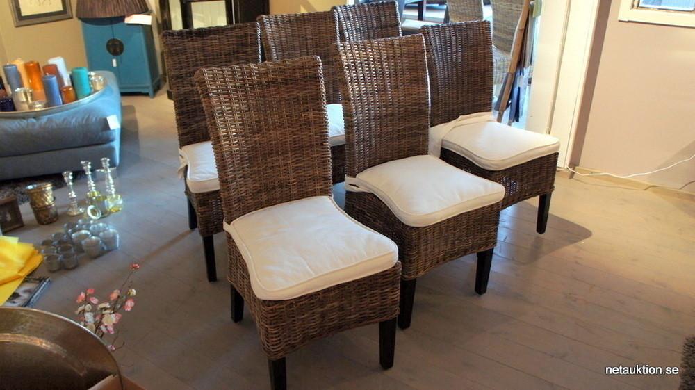 Unika Försäljningsobjekt: 6st stolar i rotting, Artwood UK-08