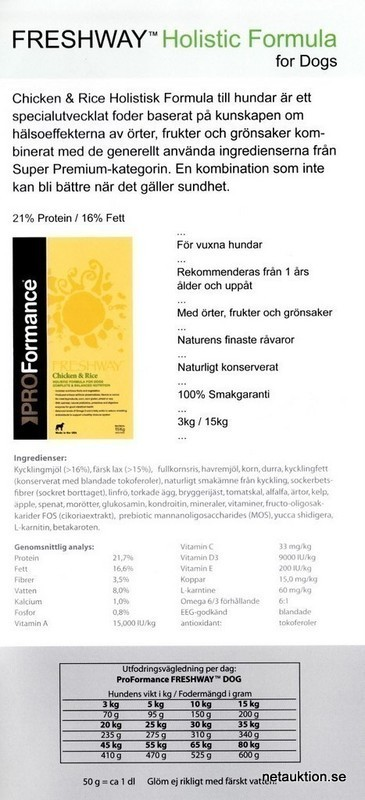 Netauktion.se - Pro Formance Freshway for Dogs - 0898-050 - 1